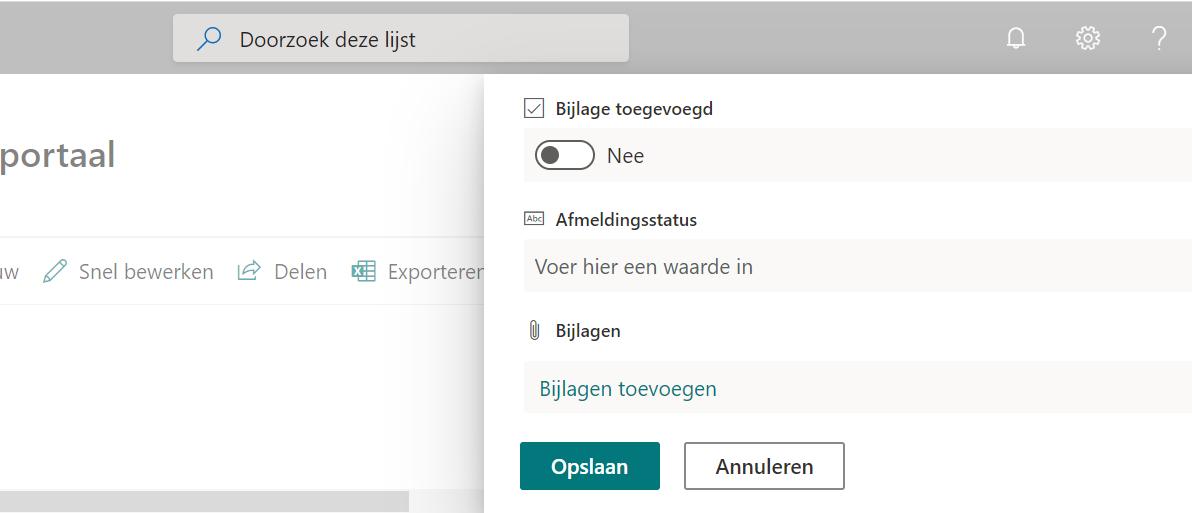 Sharepoint interactieve lijst maken