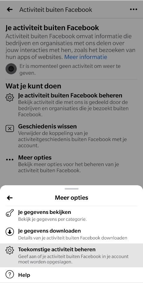 Facebook Privacy gegevens stap 5